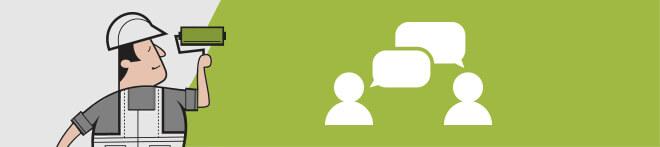 Handwerker Kommunikation und Service