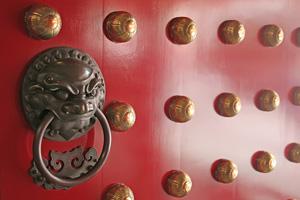 Feng Shui Mythos rote Eingangstür
