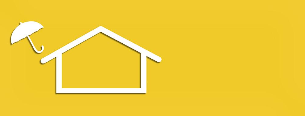 Haus ist bildlich abgesichert