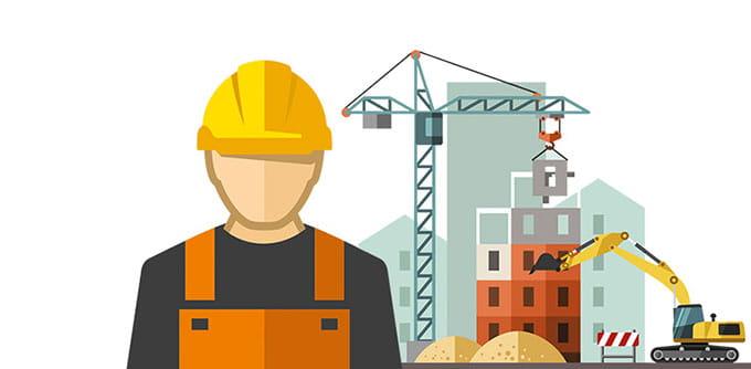 Bau einer Immobilie