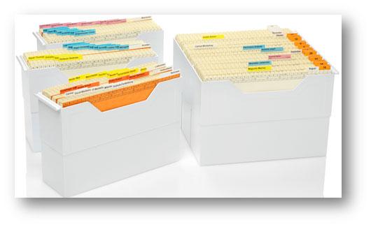 Dokumentenablage mit Stehmappen